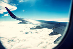 Plane window Stock Image