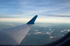 Plane Window Mountain View Royalty Free Stock Photo