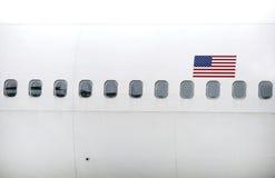 Plane windows Royalty Free Stock Photography