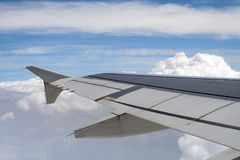 Plane wing Royalty Free Stock Photography