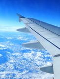 Plane wing. With great view Stock Images