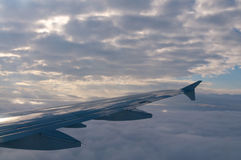 Plane wing Royalty Free Stock Images