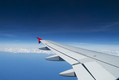 Plane wing Stock Images