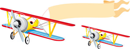 Plane With Banner Stock Images