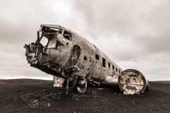 Plane Wreck Iceland Royalty Free Stock Photos