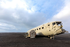 Plane Wreck Iceland Royalty Free Stock Photo