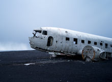 Plane Wreck near vik iceland Royalty Free Stock Image