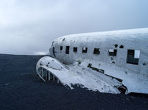 Plane Wreck near vik iceland. US Navy plane wreck in iceland near VIK Stock Photography