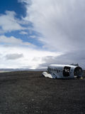 Plane Wreck near vik iceland Royalty Free Stock Images