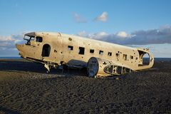 Plane wreck Stock Images