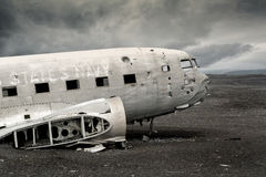 Plane wreck Royalty Free Stock Images