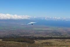 Planeador de caída en Maui Hawaii Foto de archivo libre de regalías
