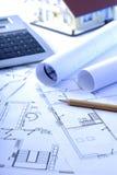 Planeamento da construção Imagem de Stock
