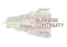 Planeamento da continuidade do negócio Imagens de Stock