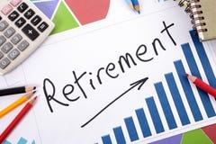 Planeamento de aposentação Foto de Stock