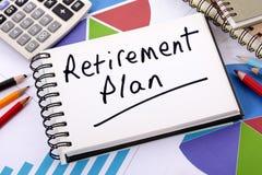 Planeamento de aposentação Fotografia de Stock
