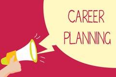 Planeamento de carreira da escrita do texto da escrita Conceito que significa a lista de A de objetivos e das ações que você pode imagens de stock royalty free