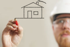 Planeamento de casa fotografia de stock royalty free