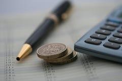 Planeamento de finança Fotos de Stock Royalty Free