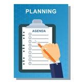 Planeamento do cartaz do negócio Imagem de Stock Royalty Free