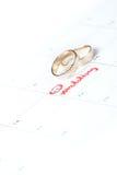 Planeamento do casamento fotografia de stock royalty free