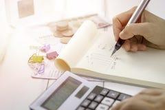 Planeamento do esboço para o negócio imagens de stock royalty free