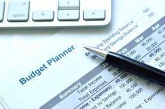 Planeamento do orçamento de projeto imagens de stock