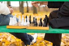 Planeamento e estratégia em um jogo de xadrez Imagens de Stock