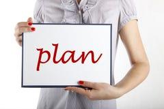 Planeamento empresarial Foto de Stock Royalty Free