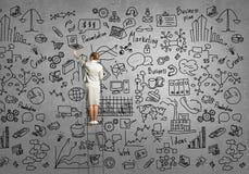 Planeamento empresarial Imagens de Stock Royalty Free