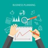 Planeamento empresarial Fotos de Stock Royalty Free
