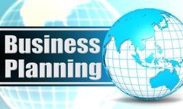 Planeamento empresarial com globo da esfera Foto de Stock Royalty Free