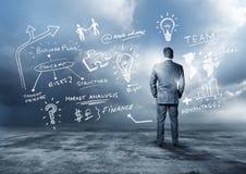 Planeamento empresarial dianteiro Imagens de Stock