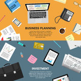 Planeamento empresarial e conceito do investimento Fotografia de Stock