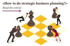 Planeamento empresarial estratégico isométrico ilustração stock