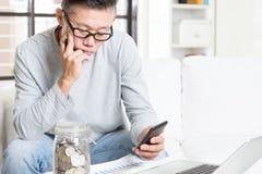 Planeamento financeiro da aposentadoria imagens de stock