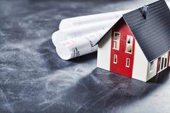 Planeamiento de casa para los dueños y los arquitectos fotos de archivo