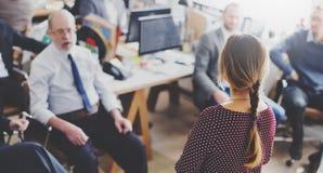 Planeamiento de entrenamiento de la conferencia que aprende concepto del negocio que entrena fotos de archivo libres de regalías