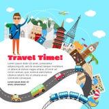 Planeamiento de las vacaciones del World Travel y de verano Fotografía de archivo libre de regalías
