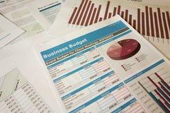 Planeamiento del presupuesto Imagenes de archivo