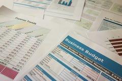 Planeamiento del presupuesto de negocio Imagen de archivo