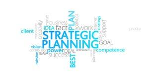 Planeamiento estratégico, tipografía animada ilustración del vector