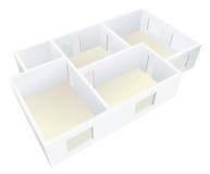 Planeamiento plano vacío blanco Imágenes de archivo libres de regalías