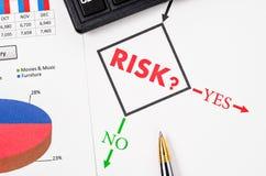 Planeando o risco de negócio imagem de stock royalty free