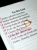 Planeando um divórcio Imagem de Stock