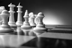 Planeando uma estratégia na xadrez Imagens de Stock