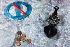 Planeando uma viagem Imagem de Stock Royalty Free
