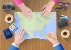 Planeando uma viagem a America do Norte Imagem de Stock Royalty Free
