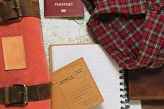 Planeando a viagem e a coleta de pertences foto de stock