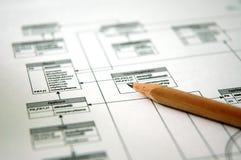 Planear - gerência de base de dados Imagens de Stock